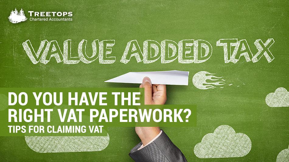 paperwork tips for claiming vat