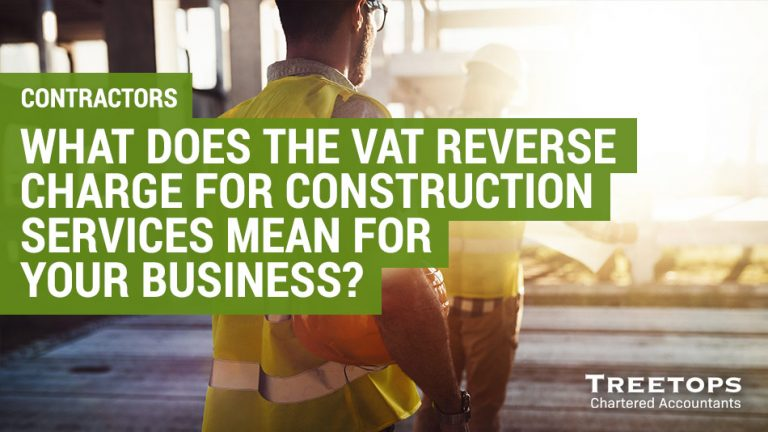 VAT reverse charge for construction services for contractors